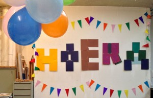 hoera-en-ballonnen feest