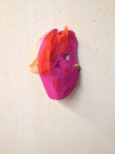 paars masker knutselen