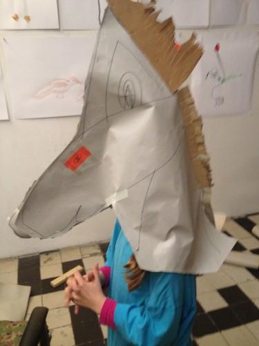 knutselen tekenen paard masker in Amsterdam