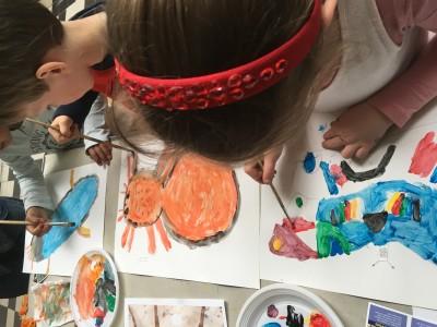 Insecten tekenen en schilderen bij de knutselclub