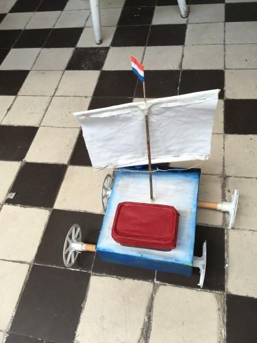 Wind zeil boot. Oplossing voor de toekomst?