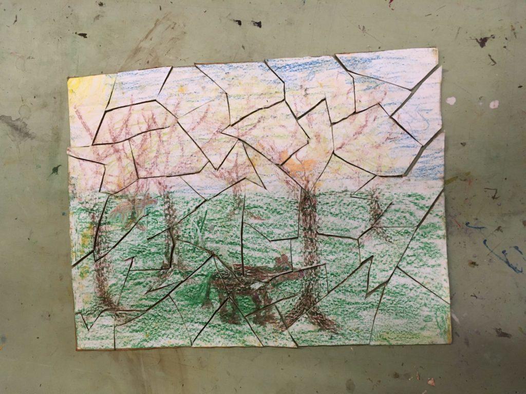 Puzzel van tekening