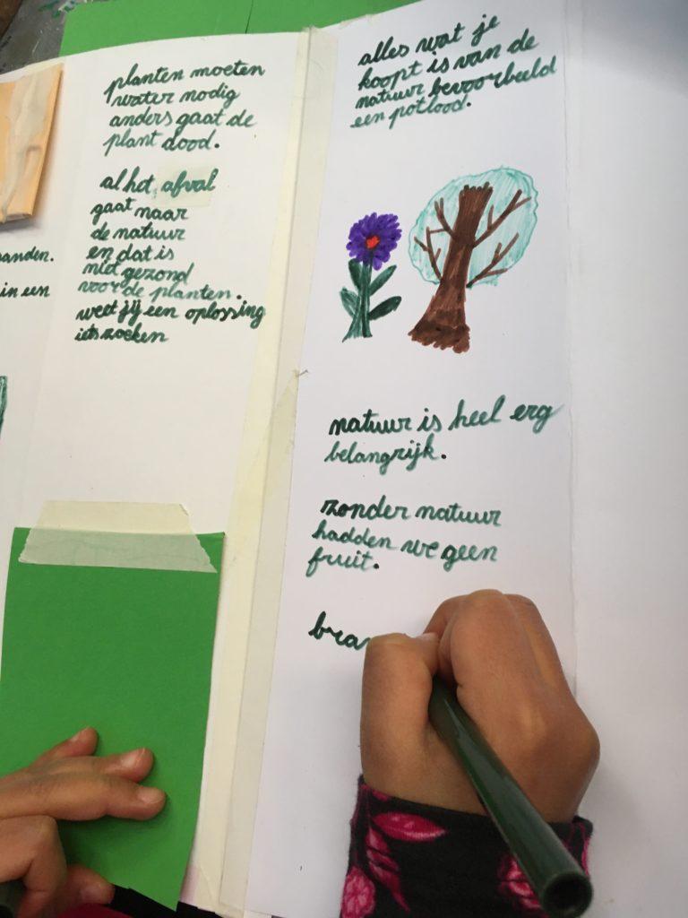 Lapboek, een boek voor op schoot, vol informatie geschreven en om op te zoeken